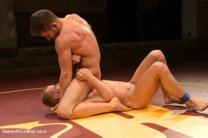 """Photo number 5 from Steve """"Single-Round"""" Sterling vs Randall """"The Rock"""" O'Reilly - Loser Gets Gang Fucked shot for Naked Kombat on Kink.com. Featuring Randall O'Reilly and Steve Sterling in hardcore BDSM & Fetish porn."""