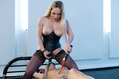Photo number 6 from Tease or be Tazed shot for Electro Sluts on Kink.com. Featuring Dahlia Sky and Aiden Starr in hardcore BDSM & Fetish porn.