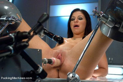Photo number 2 from Gold Strike: Hot New Brunette Co-ed FUCKED by Machines shot for Fucking Machines on Kink.com. Featuring Mia Gold in hardcore BDSM & Fetish porn.