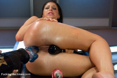 Photo number 14 from Gold Strike: Hot New Brunette Co-ed FUCKED by Machines shot for Fucking Machines on Kink.com. Featuring Mia Gold in hardcore BDSM & Fetish porn.