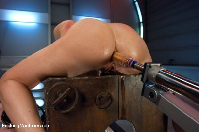 Photo number 9 from Gold Strike: Hot New Brunette Co-ed FUCKED by Machines shot for Fucking Machines on Kink.com. Featuring Mia Gold in hardcore BDSM & Fetish porn.