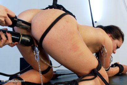 Photo number 14 from Part 2: Juliette gets ass-fucked with an electric metal cock! shot for Electro Sluts on Kink.com. Featuring Lorelei Lee and Juliette March in hardcore BDSM & Fetish porn.