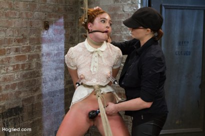 Photo number 6 from Jodi Taylor: Eager slut elaborately bound, caned, zapped and fucked! shot for Hogtied on Kink.com. Featuring Jodi Taylor in hardcore BDSM & Fetish porn.
