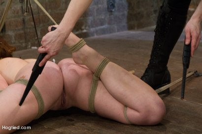 Photo number 10 from Jodi Taylor: Eager slut elaborately bound, caned, zapped and fucked! shot for Hogtied on Kink.com. Featuring Jodi Taylor in hardcore BDSM & Fetish porn.