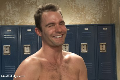 Photo number 15 from Captured Baseball Stud gets Edged in the Locker Room shot for Men On Edge on Kink.com. Featuring Cameron Kincade in hardcore BDSM & Fetish porn.