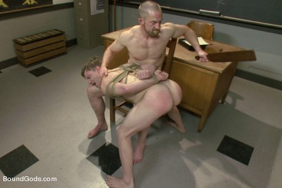Photo number 11 from Big cock jock gets fucked and paddled by his biology teacher shot for Bound Gods on Kink.com. Featuring Adam Herst and Doug Acre in hardcore BDSM & Fetish porn.