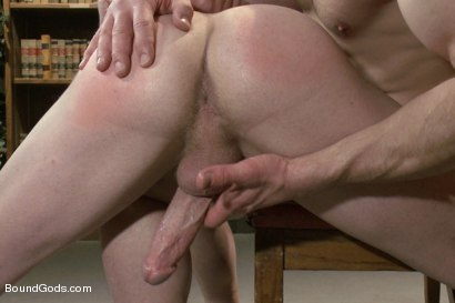 Photo number 12 from Big cock jock gets fucked and paddled by his biology teacher shot for Bound Gods on Kink.com. Featuring Adam Herst and Doug Acre in hardcore BDSM & Fetish porn.