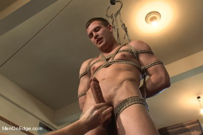 Photo number 5 from Hot Stud Hayden Richards Bound and Edged for First Time shot for Men On Edge on Kink.com. Featuring Hayden Richards in hardcore BDSM & Fetish porn.