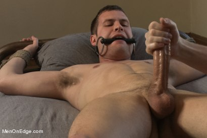 Photo number 9 from Hot Stud Hayden Richards Bound and Edged for First Time shot for Men On Edge on Kink.com. Featuring Hayden Richards in hardcore BDSM & Fetish porn.