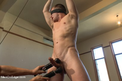 Photo number 4 from Hot Stud Hayden Richards Bound and Edged for First Time shot for Men On Edge on Kink.com. Featuring Hayden Richards in hardcore BDSM & Fetish porn.