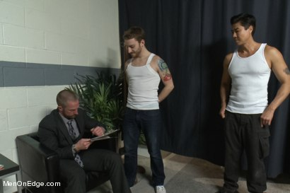 Photo number 1 from Special Four Hand Massage  shot for Men On Edge on Kink.com. Featuring Adam Herst in hardcore BDSM & Fetish porn.