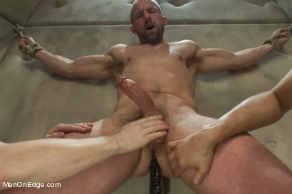 Photo number 12 from Special Four Hand Massage  shot for Men On Edge on Kink.com. Featuring Adam Herst in hardcore BDSM & Fetish porn.