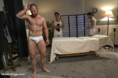 Photo number 14 from Special Four Hand Massage  shot for Men On Edge on Kink.com. Featuring Adam Herst in hardcore BDSM & Fetish porn.