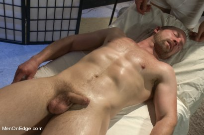 Photo number 5 from Special Four Hand Massage  shot for Men On Edge on Kink.com. Featuring Adam Herst in hardcore BDSM & Fetish porn.