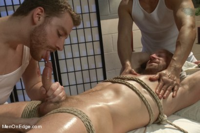 Photo number 7 from Special Four Hand Massage  shot for Men On Edge on Kink.com. Featuring Adam Herst in hardcore BDSM & Fetish porn.