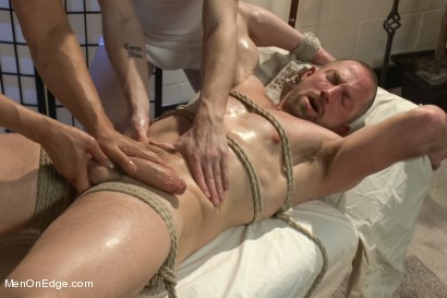 Photo number 6 from Special Four Hand Massage  shot for Men On Edge on Kink.com. Featuring Adam Herst in hardcore BDSM & Fetish porn.