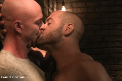 Photo number 1 from Dungeon Date shot for Bound Gods on Kink.com. Featuring Leo Forte and Mitch Vaughn in hardcore BDSM & Fetish porn.