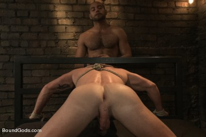 Photo number 11 from Dungeon Date shot for Bound Gods on Kink.com. Featuring Leo Forte and Mitch Vaughn in hardcore BDSM & Fetish porn.