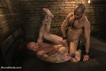 Photo number 12 from Dungeon Date shot for Bound Gods on Kink.com. Featuring Leo Forte and Mitch Vaughn in hardcore BDSM & Fetish porn.