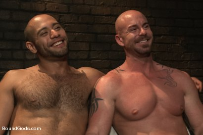 Photo number 15 from Dungeon Date shot for Bound Gods on Kink.com. Featuring Leo Forte and Mitch Vaughn in hardcore BDSM & Fetish porn.