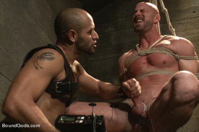 Photo number 4 from Dungeon Date shot for Bound Gods on Kink.com. Featuring Leo Forte and Mitch Vaughn in hardcore BDSM & Fetish porn.