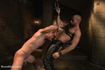 Photo number 9 from Dungeon Date shot for Bound Gods on Kink.com. Featuring Leo Forte and Mitch Vaughn in hardcore BDSM & Fetish porn.