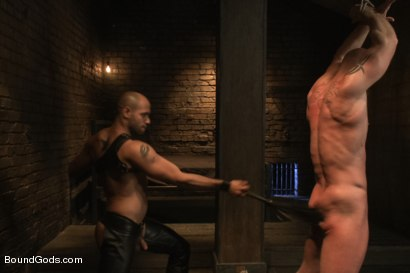 Photo number 10 from Dungeon Date shot for Bound Gods on Kink.com. Featuring Leo Forte and Mitch Vaughn in hardcore BDSM & Fetish porn.