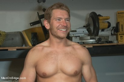 Photo number 15 from Captured dock worker gets jacked up by two perverts shot for Men On Edge on Kink.com. Featuring Alex Adams in hardcore BDSM & Fetish porn.