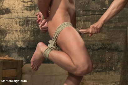Photo number 7 from Captured dock worker gets jacked up by two perverts shot for Men On Edge on Kink.com. Featuring Alex Adams in hardcore BDSM & Fetish porn.