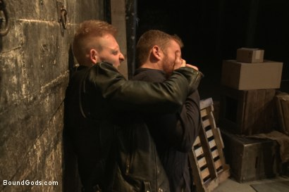 Photo number 1 from Dockworker gets taken down and fucked by a leather dom shot for Bound Gods on Kink.com. Featuring Rob Yaeger and Sebastian Keys in hardcore BDSM & Fetish porn.