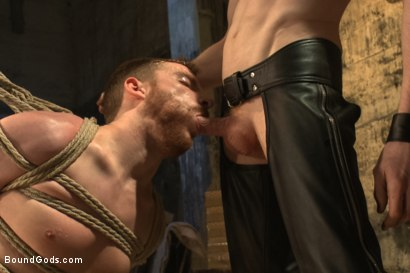 Photo number 9 from Dockworker gets taken down and fucked by a leather dom shot for Bound Gods on Kink.com. Featuring Rob Yaeger and Sebastian Keys in hardcore BDSM & Fetish porn.