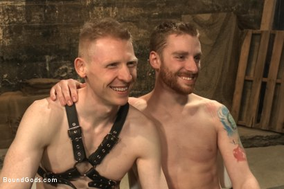Photo number 15 from Dockworker gets taken down and fucked by a leather dom shot for Bound Gods on Kink.com. Featuring Rob Yaeger and Sebastian Keys in hardcore BDSM & Fetish porn.