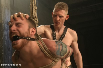 Photo number 10 from Dockworker gets taken down and fucked by a leather dom shot for Bound Gods on Kink.com. Featuring Rob Yaeger and Sebastian Keys in hardcore BDSM & Fetish porn.
