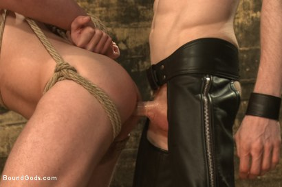 Photo number 12 from Dockworker gets taken down and fucked by a leather dom shot for Bound Gods on Kink.com. Featuring Rob Yaeger and Sebastian Keys in hardcore BDSM & Fetish porn.