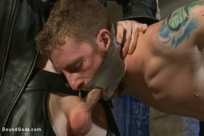Photo number 3 from Dockworker gets taken down and fucked by a leather dom shot for Bound Gods on Kink.com. Featuring Rob Yaeger and Sebastian Keys in hardcore BDSM & Fetish porn.