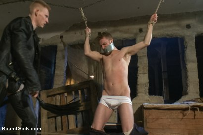 Photo number 2 from Dockworker gets taken down and fucked by a leather dom shot for Bound Gods on Kink.com. Featuring Rob Yaeger and Sebastian Keys in hardcore BDSM & Fetish porn.