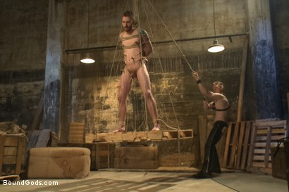 Photo number 7 from Dockworker gets taken down and fucked by a leather dom shot for Bound Gods on Kink.com. Featuring Rob Yaeger and Sebastian Keys in hardcore BDSM & Fetish porn.