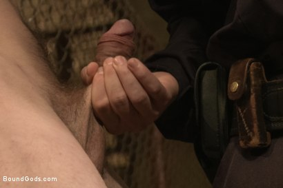 Photo number 4 from Officer Stevens and The Masked Burglar - Nowhere to Run shot for Bound Gods on Kink.com. Featuring Jeremy Stevens and Dayton O'Connor in hardcore BDSM & Fetish porn.