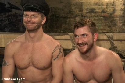 Photo number 15 from Officer Stevens and The Masked Burglar - Nowhere to Run shot for Bound Gods on Kink.com. Featuring Jeremy Stevens and Dayton O'Connor in hardcore BDSM & Fetish porn.