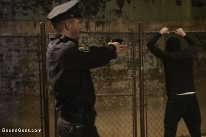 Photo number 1 from Officer Stevens and The Masked Burglar - Nowhere to Run shot for Bound Gods on Kink.com. Featuring Jeremy Stevens and Dayton O'Connor in hardcore BDSM & Fetish porn.