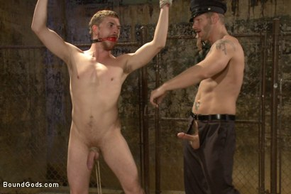 Photo number 7 from Officer Stevens and The Masked Burglar - Nowhere to Run shot for Bound Gods on Kink.com. Featuring Jeremy Stevens and Dayton O'Connor in hardcore BDSM & Fetish porn.
