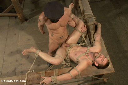 Photo number 12 from Officer Stevens and The Masked Burglar - Nowhere to Run shot for Bound Gods on Kink.com. Featuring Jeremy Stevens and Dayton O'Connor in hardcore BDSM & Fetish porn.