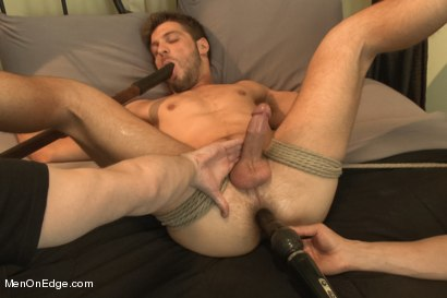 Photo number 13 from Super Hunk Andrew Blue Bound and Begging to Cum shot for Men On Edge on Kink.com. Featuring Andrew Blue in hardcore BDSM & Fetish porn.