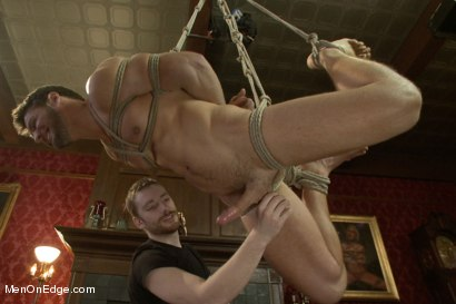 Photo number 9 from Super Hunk Andrew Blue Bound and Begging to Cum shot for Men On Edge on Kink.com. Featuring Andrew Blue in hardcore BDSM & Fetish porn.