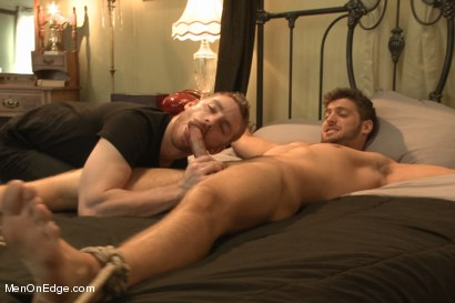 Photo number 10 from Super Hunk Andrew Blue Bound and Begging to Cum shot for Men On Edge on Kink.com. Featuring Andrew Blue in hardcore BDSM & Fetish porn.