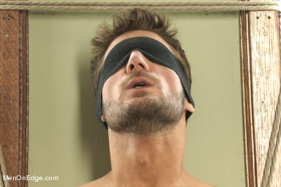 Photo number 2 from Super Hunk Andrew Blue Bound and Begging to Cum shot for Men On Edge on Kink.com. Featuring Andrew Blue in hardcore BDSM & Fetish porn.