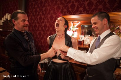 Photo number 7 from Super Secret Anal Sex Show and Reading shot for The Upper Floor on Kink.com. Featuring Alani Pi, Dylan Ryan and Mickey Mod in hardcore BDSM & Fetish porn.