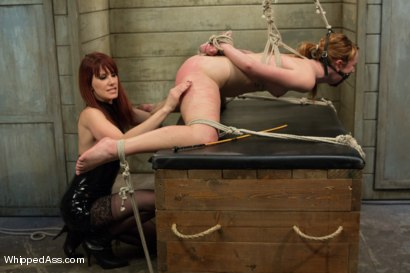 Photo number 6 from Dirty Confessions: Live Lesbian BDSM  shot for Whipped Ass on Kink.com. Featuring Claire Robbins and Maitresse Madeline Marlowe in hardcore BDSM & Fetish porn.