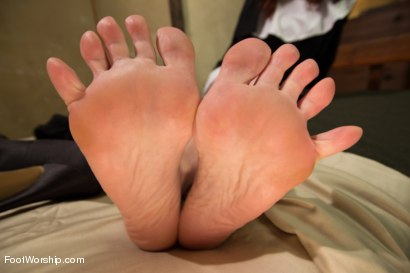 Photo number 15 from Classic Archive: A Convent Of Foot Sinners: Footsploitation, Nunsploitation, Blasphemy and FULL FOOT shot for Foot Worship on Kink.com. Featuring Maitresse Madeline Marlowe  and Gia DiMarco in hardcore BDSM & Fetish porn.