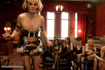 Photo number 2 from CAUTION: EXTREME FEMDOM HUMILIATION! Live Sissy/Bisexual humiliation shot for Divine Bitches on Kink.com. Featuring Aiden Starr, Sean Spurt, Francesca Le , Maitresse Madeline Marlowe , Alex Adams, Lea Lexis and Jason Miller in hardcore BDSM & Fetish porn.